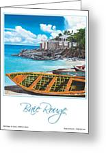 Baie Rouge Poster Greeting Card