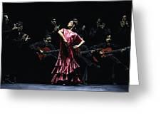 Bailarina Orgullosa Del Flamenco Greeting Card