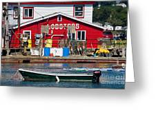Bailey Island Lobster Pound Greeting Card by Susan Cole Kelly