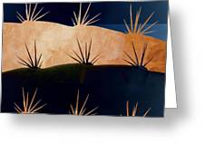 Baja Landscape Number 1 Square Greeting Card by Carol Leigh
