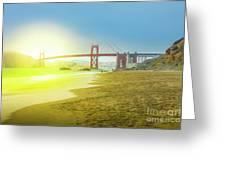 Baker Beach In San Francisco Greeting Card