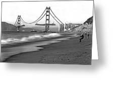 Baker Beach In Sf Greeting Card