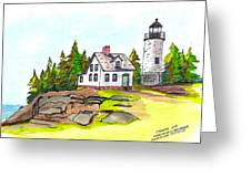 Baker Island Bar Harbor Maine Greeting Card