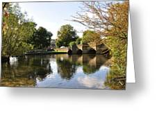 Bakewell Bridge And The River Wye Greeting Card