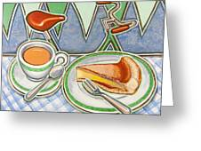 Bakewell Pudding And Cup Of Tea At Eroica Britannia  Greeting Card