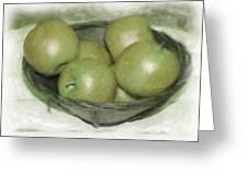 Baking Apples Greeting Card