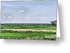 Bakken Crude On Rail Greeting Card