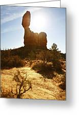 Balancd Rock 3 Greeting Card