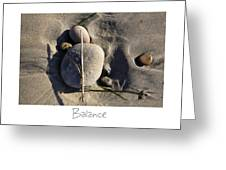 Balance Greeting Card by Peter Tellone