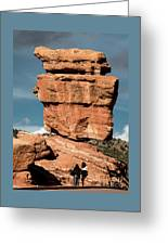 Balanced Rock At Garden Of The Gods Greeting Card