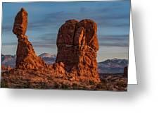Balanced Rock Sunset Greeting Card