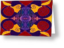 Balancing Affections Abstract Bliss Art By Omashte Greeting Card