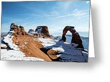 Delicate Arch Wide Greeting Card