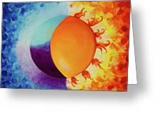Balancing Sun And Moon Energies Greeting Card