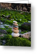 Balancing Zen Stones By The Sea II Greeting Card