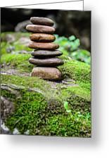 Balancing Zen Stones IIi Greeting Card