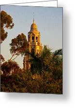 Balboa Park Bell Tower Orig. Greeting Card