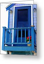 Balcony And Flower Pot Greeting Card