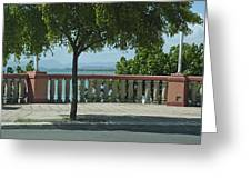 Balcony On The Beach In Naguabo  Puerto Rico Greeting Card