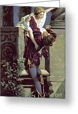 Balcony Scene, Romeo And Juliet Greeting Card