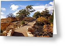 Balcony To The North Rim Greeting Card