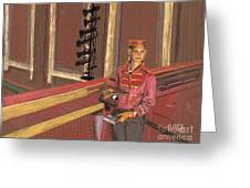 Balcony Usher Greeting Card