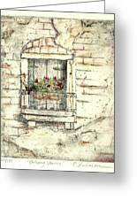 Balcony Venice Greeting Card