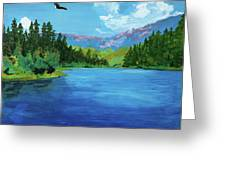 Bald Eagle At Hume Lake - Psalm 103 Verse 5 Greeting Card