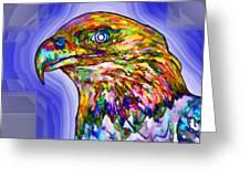 Bald Eagle Face Greeting Card