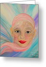 Bald Is Beauty With Brown Eyes Greeting Card