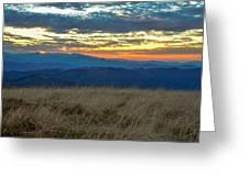 Bald Mountain Sunset Greeting Card
