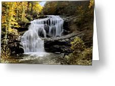 Bald River Falls In Autumn Greeting Card