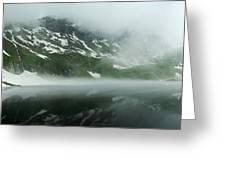 Balea Lake Panorama Romania Greeting Card