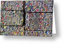 Bales Of Aluminum Cans Greeting Card