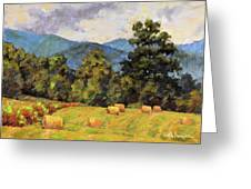 Bales Of August Greeting Card