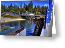 Balfour Bc Docks And Ferry  Greeting Card