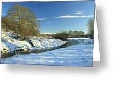Balheary  Demesne In The Snow Greeting Card