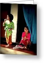 Bali Children Greeting Card