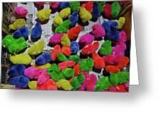 Bali Coloured Chicks Greeting Card