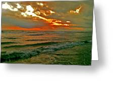 Bali Evening Sky Greeting Card