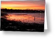 Bali Fisherman Sunset Greeting Card