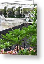 Bali Lady Fountain Greeting Card
