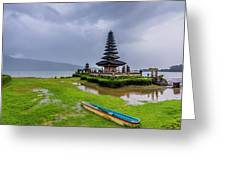 Bali Lake Temple Greeting Card