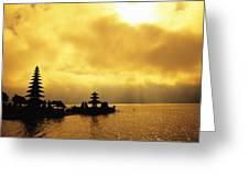 Bali, Temple Greeting Card