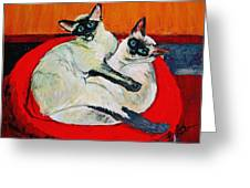 Balinese Cats Hugging Greeting Card