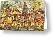 Balinese Ceremony  Greeting Card