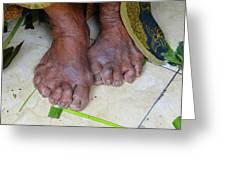 Balinese Lady's Feet Greeting Card