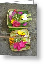 Balinese Offering Baskets Greeting Card