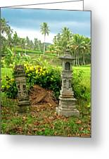 Balinese Rice Field Shrines Greeting Card