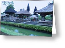 Balinese Temple By The Water Greeting Card